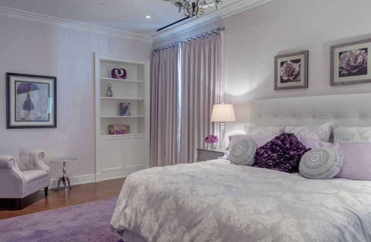 Luxury levender master bedroom