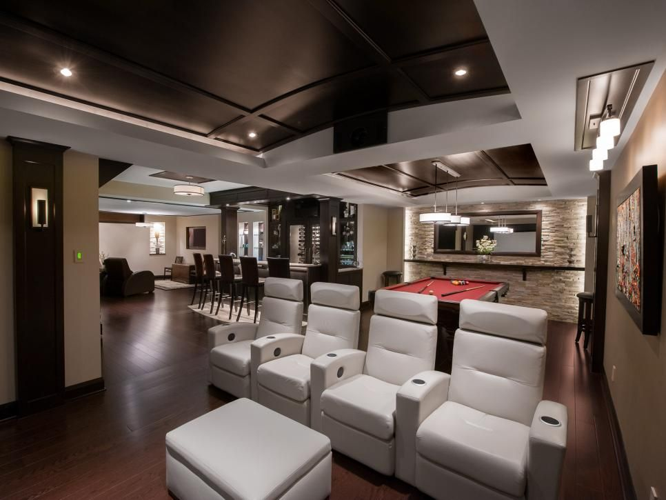 Man cave designed in basement