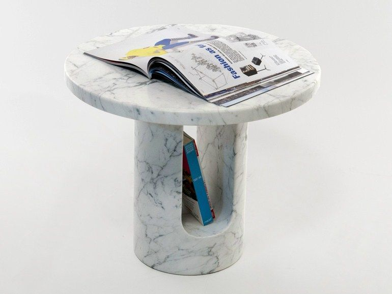 Marble u turn coffee table