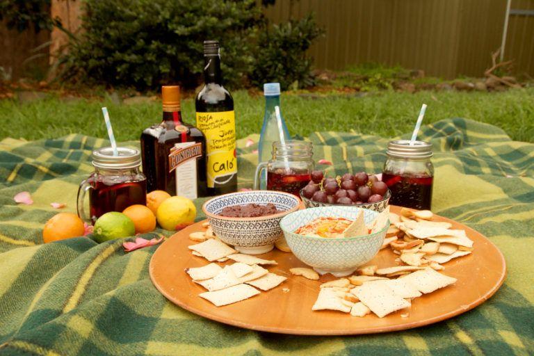 Mason jars outdoor Citrus Summer Sangria Serve