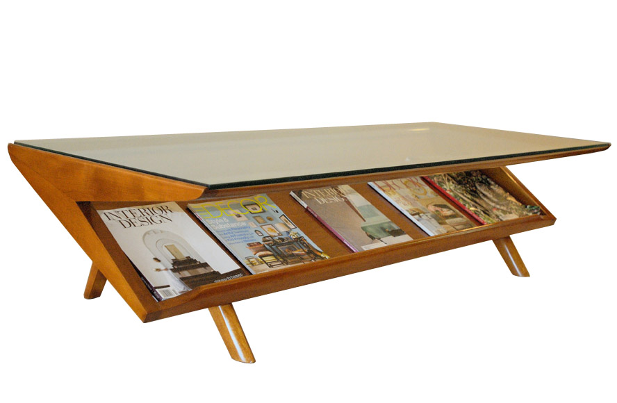 Mid century magazine holder table