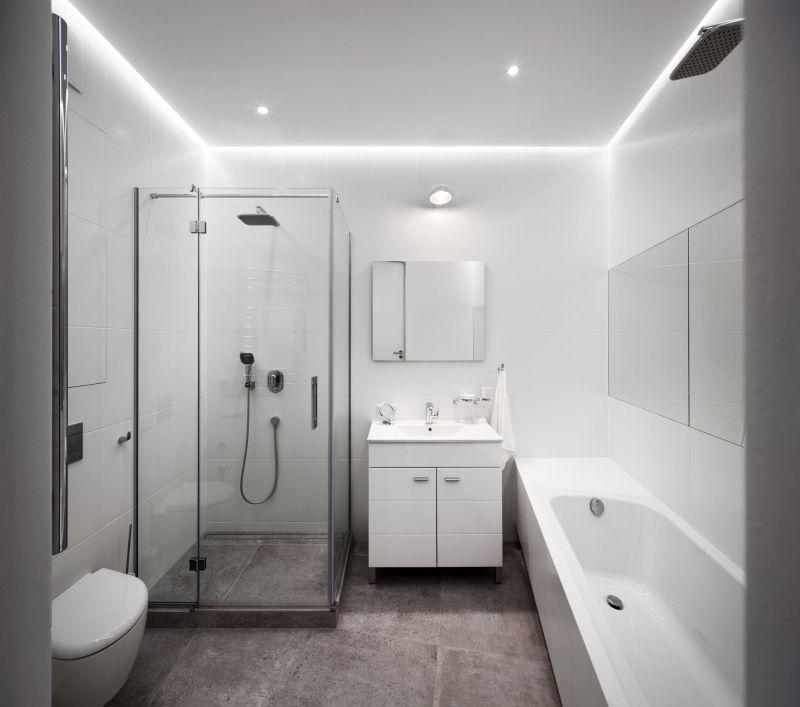 Minimalist apartment in Kiev bathroom interior
