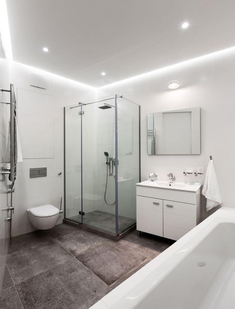 Minimalist apartment in Kiev bathroom shower