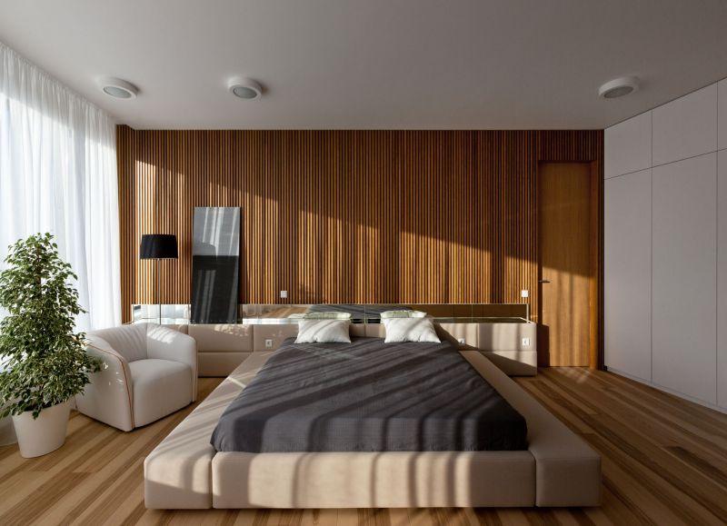 Minimalist apartment in Kiev bedroom furniture