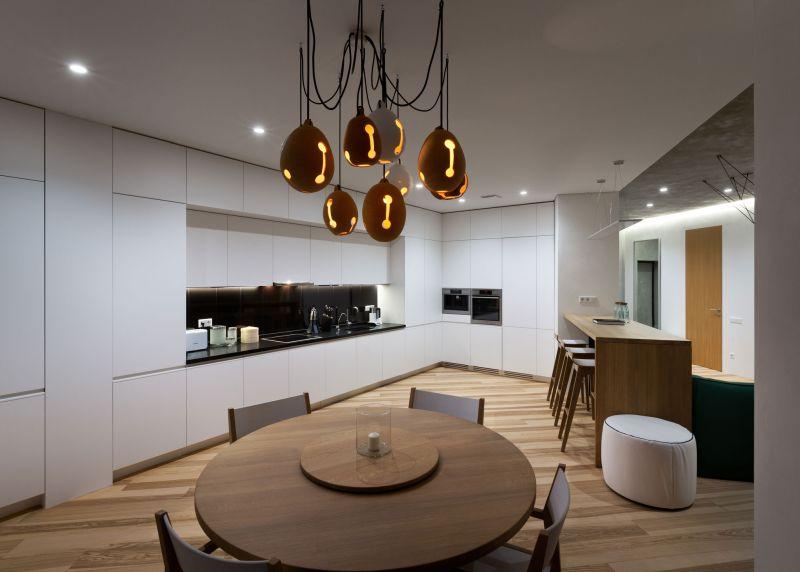 Minimalist apartment in Kiev kitchen design