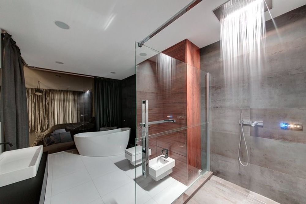 Minsk apartment by I-project bathroom shower