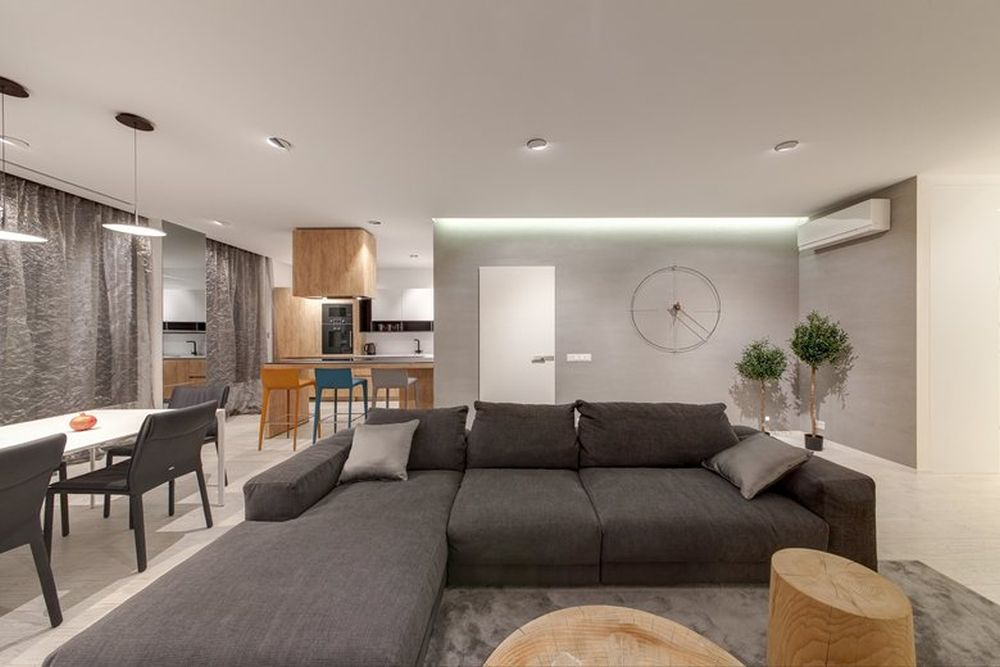 Minsk apartment by I-project living room sectional