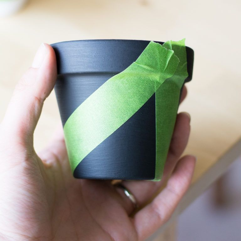 Modern Mini Painted Plant Pots-add tape
