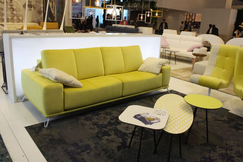 Modern chartreuse with slim legs