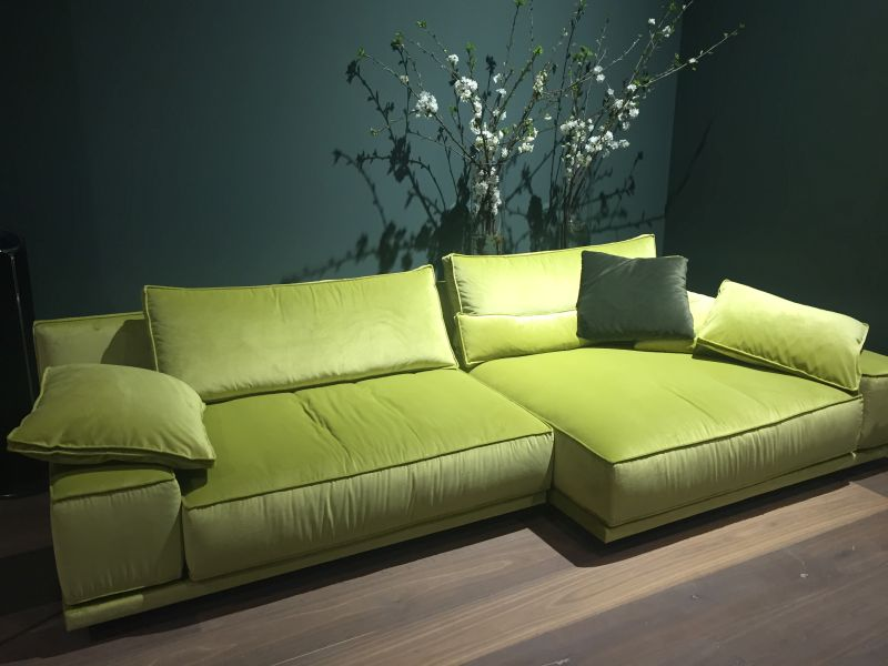 Moss Color L shaped couch