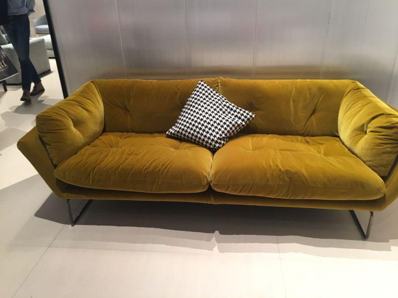 Mustard orange couch