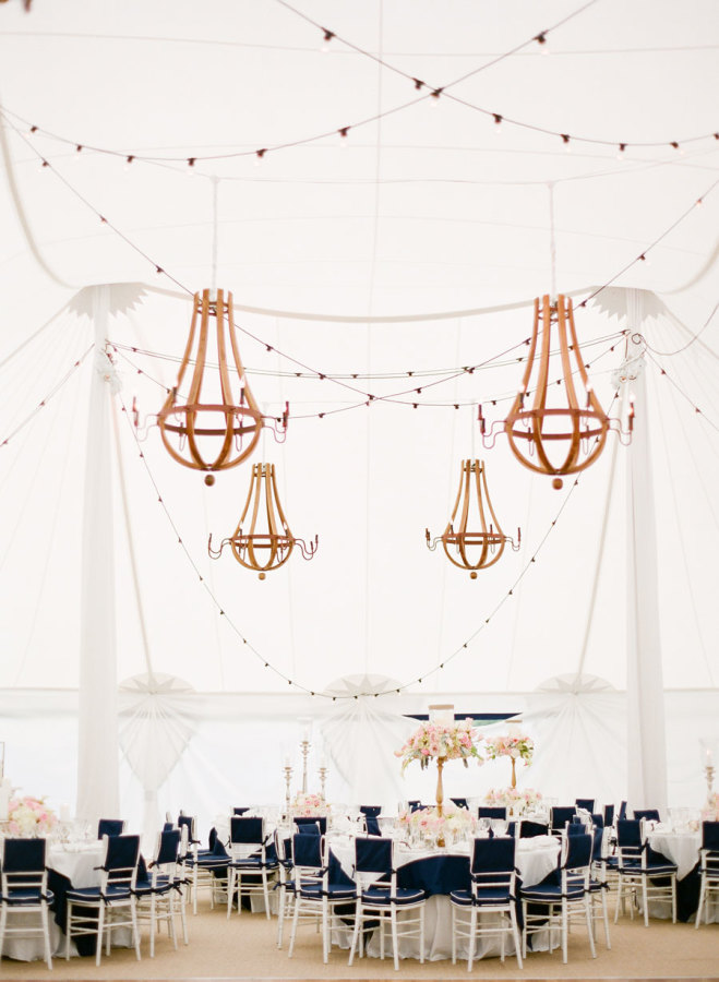 Nautical theme for a wedding tent