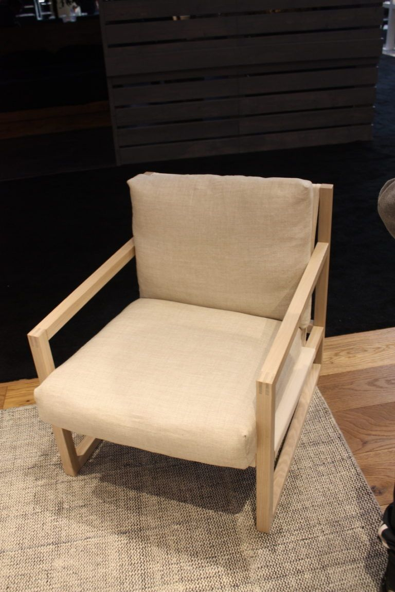 EQ3 also has this versatile neutral chair that would complement any decor style. The natural wood and ecru-colored fabric made it piece that;s easy to blend in with your existing pieces. Of course, swap out the neutral fabric for a more colorful option and you have a statement-making chair.