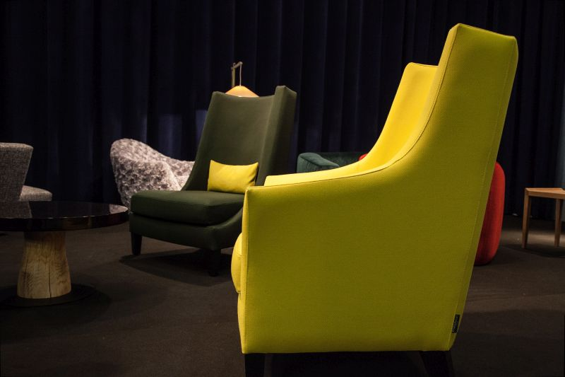 One of the most beautiful armchairs in chartreuse