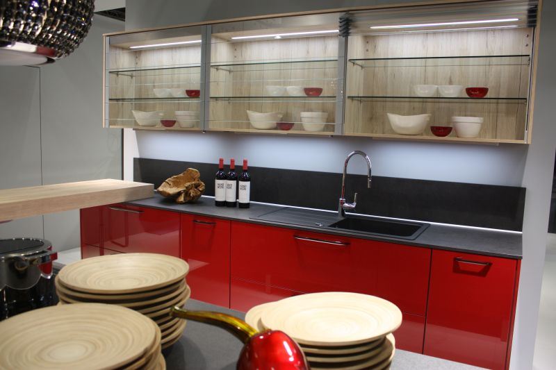 Open Space Kitchen Storage Shelves From Glass
