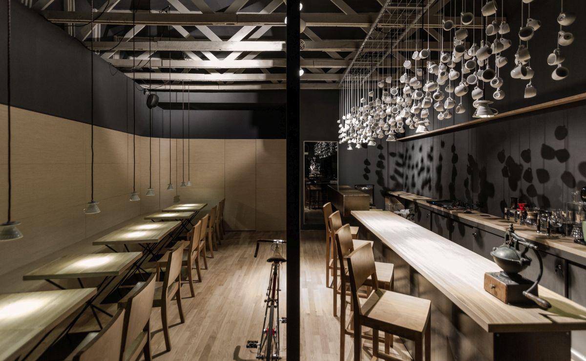 Origo Coffee Shop Design with teacups