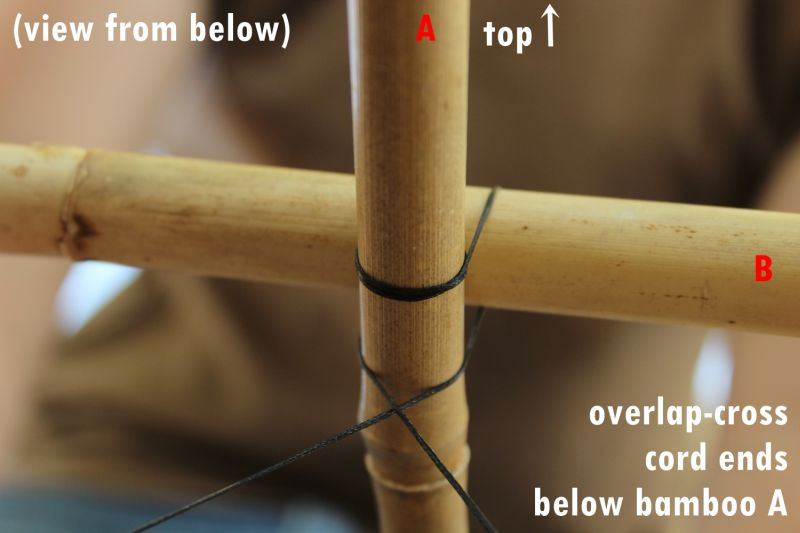 Overlap-cross the cord ends tutorial
