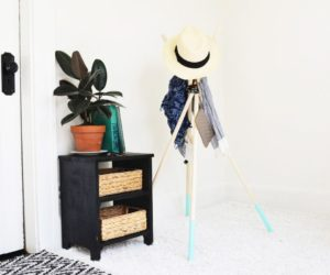 Modern DIY Standing Wooden Coat Rack