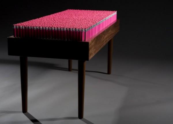 Pencil design bench