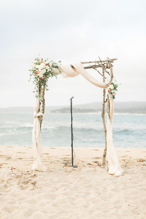 Pinkpastel Beach Wedding In Carmel