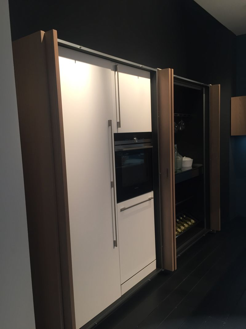 Poket Doors To Hide Fridge And Built In Appliances