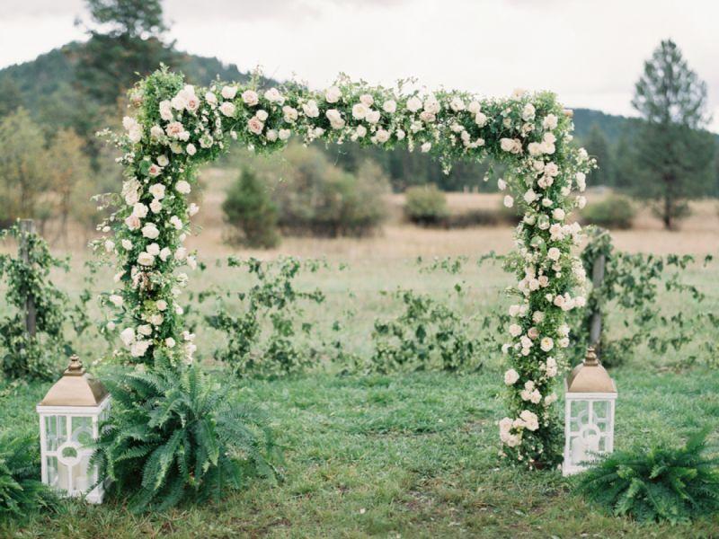 Rectangular wedding arch design