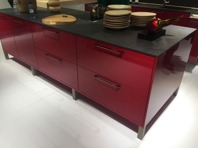 Red kitchen furniture