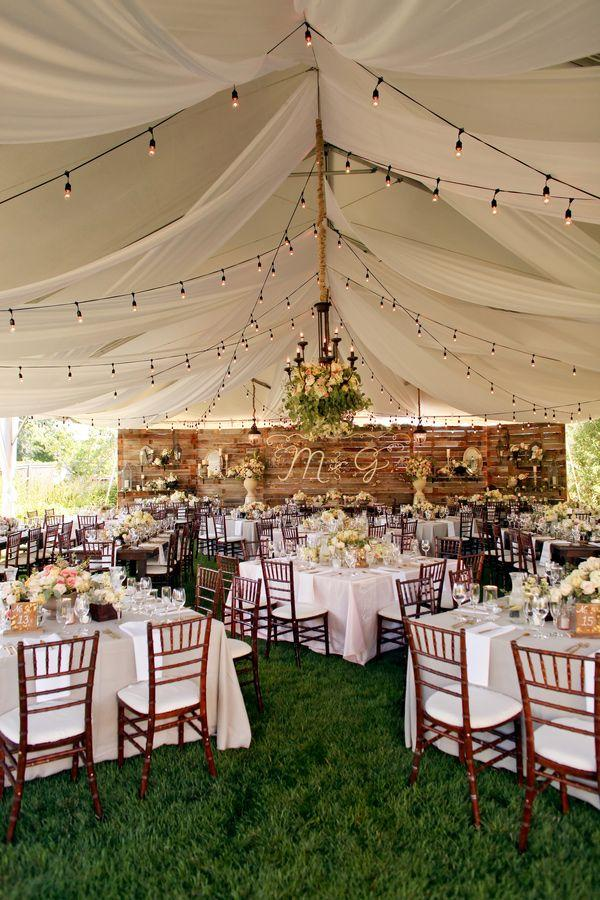 Wedding tents a fresh idea for summer celebrations rustic backyard wedding tent junglespirit Image collections