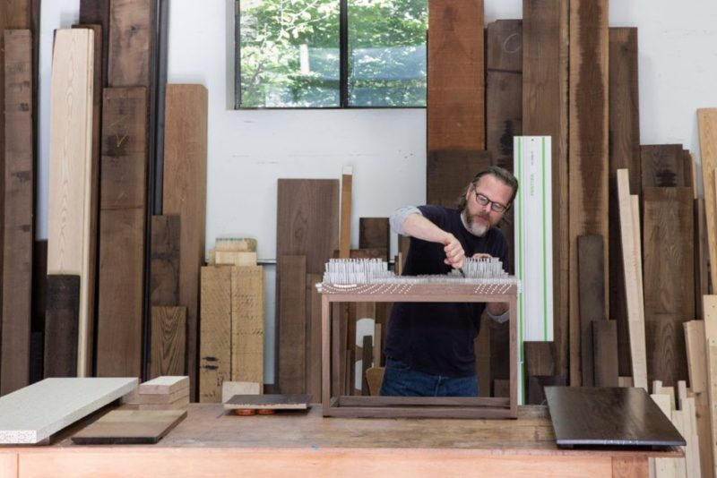Artisan Turns Wood Flaw Into Stunning Furniture Design Feature