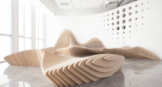 Sculptural Benches by dEEP Architects Design