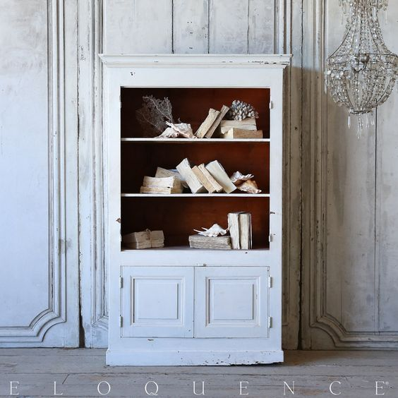 Shabby bookcase cabinet