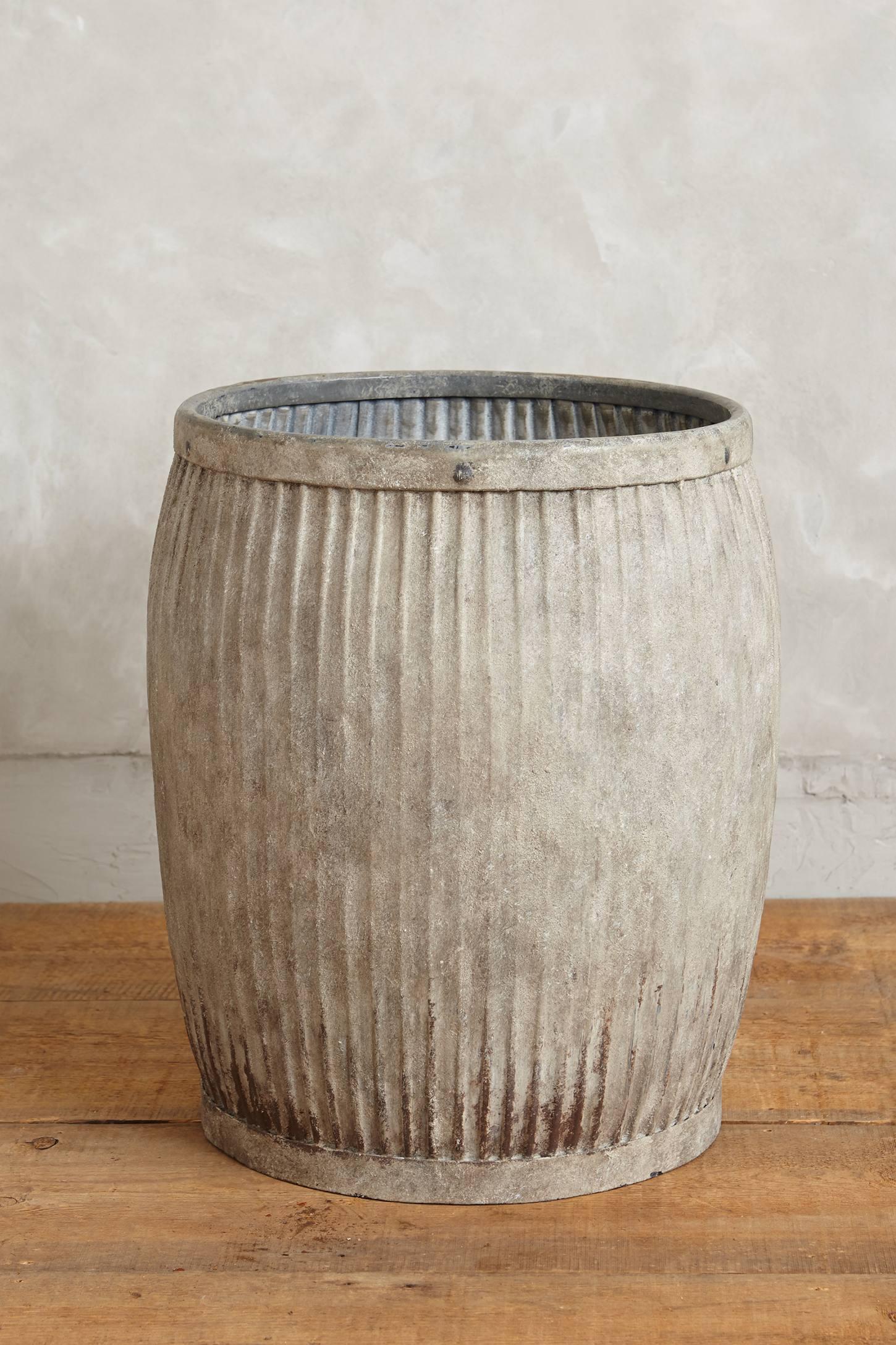 Shabby storage barrel