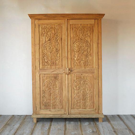 Shabby teak cabinet