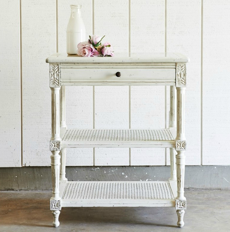 Shabby White Side Table