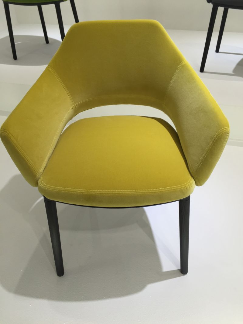 Simple chartreuse armchair