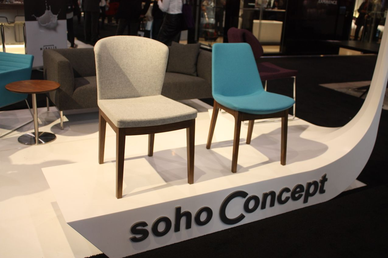 Soho Concept has an amazing range of chairs in modern styles with variations in legs and upholstery.