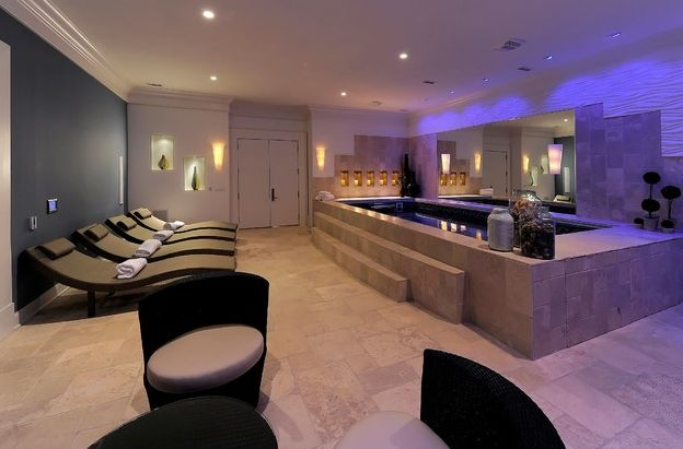 Spa man cave design