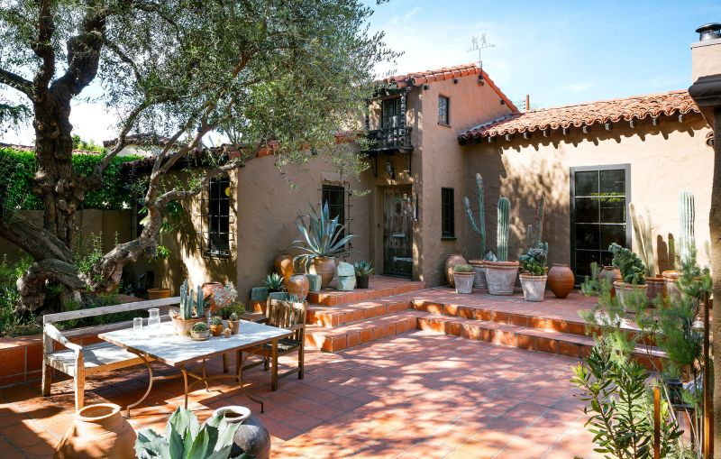 Spanish style backyard