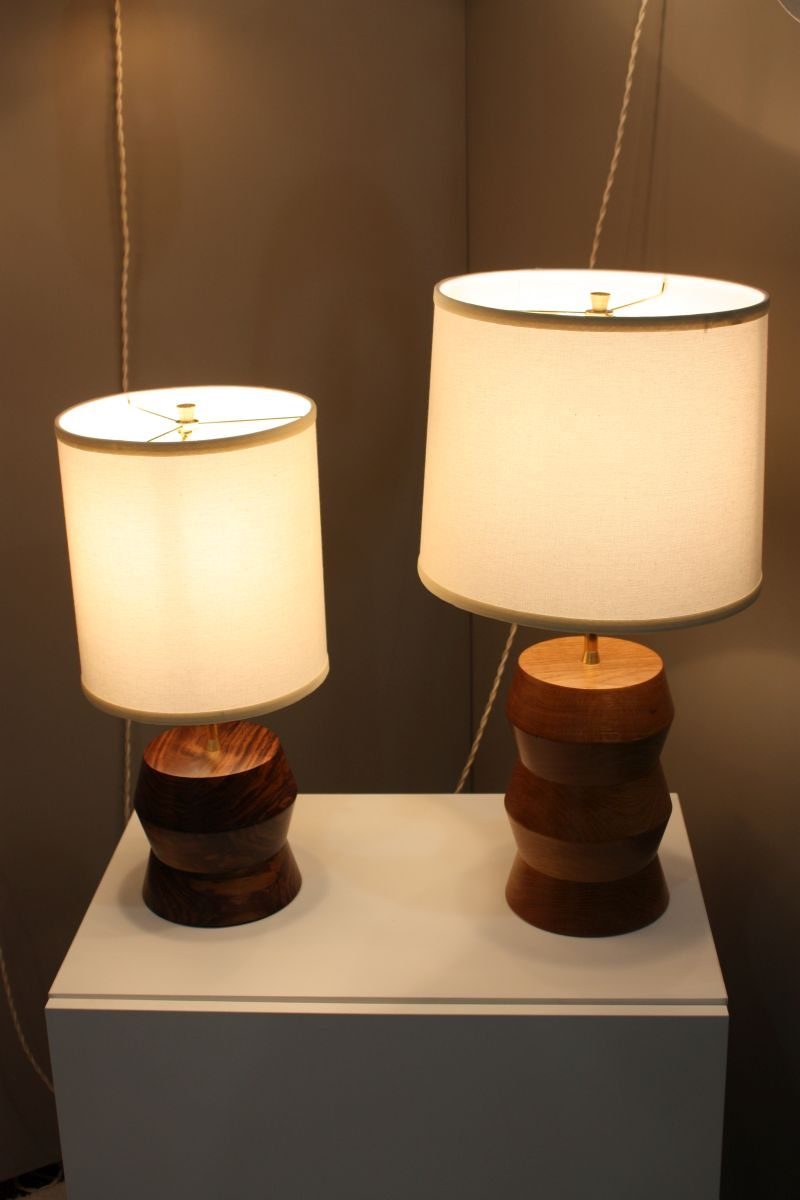 Stacked gem lamps