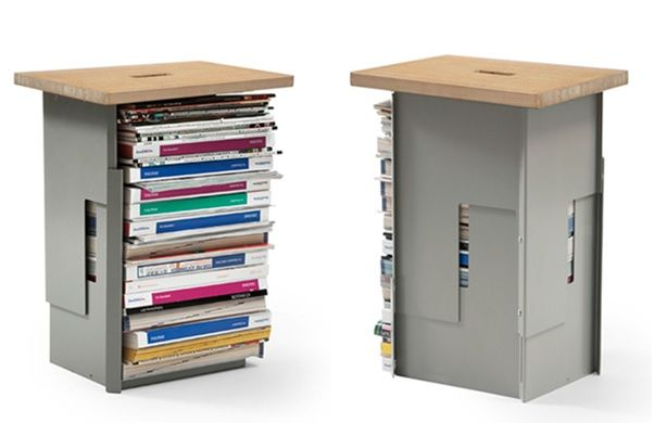 Stool with books storage