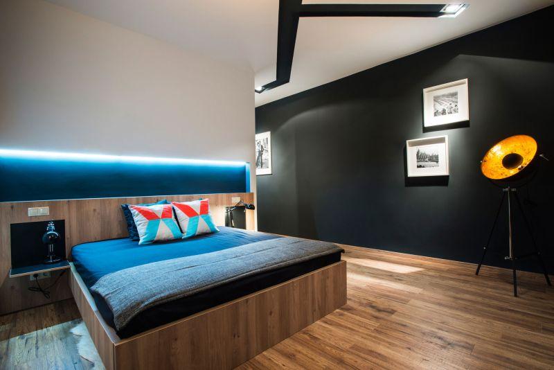 Studio Loft in Barcelona bedroom lighting