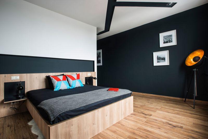 Studio Loft in Barcelona bedroom wooden floor