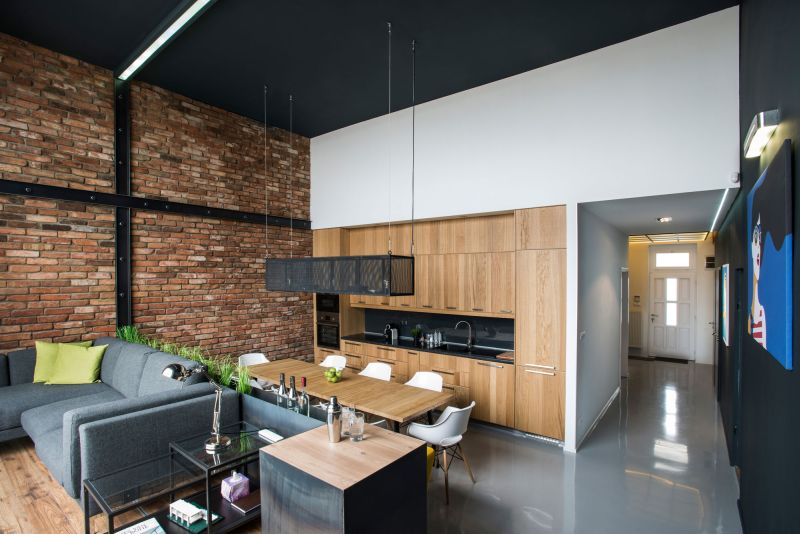 Studio Loft in Barcelona kitchen and social spaces