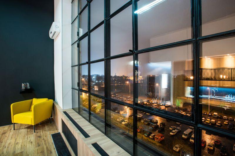 Studio Loft in Barcelona view from window at night