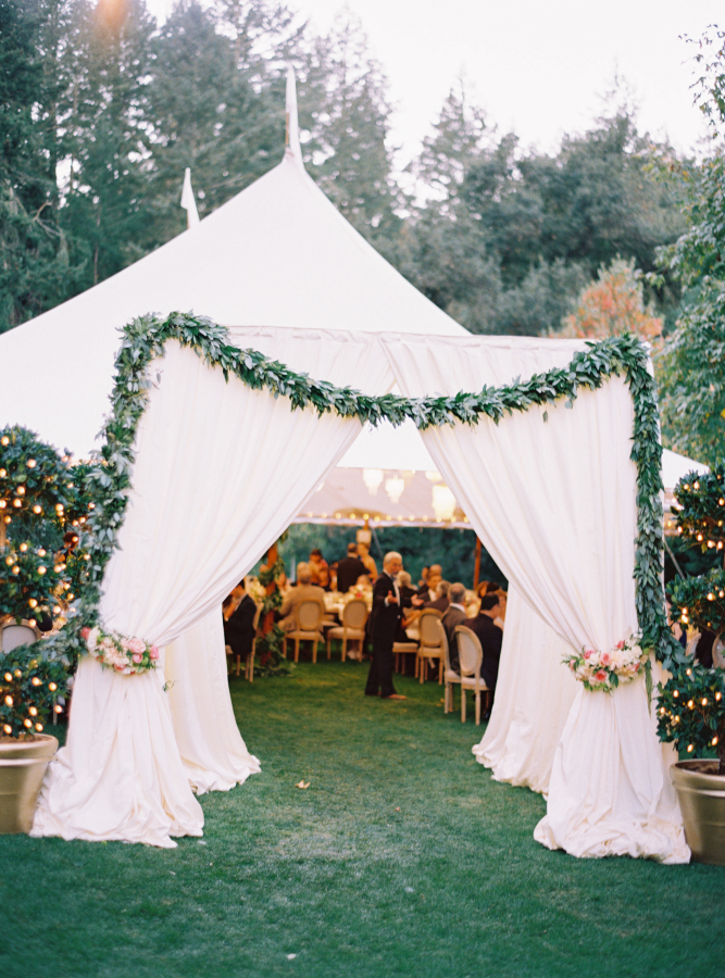 Tent wedding arch & Wedding Tents u2013 A Fresh Idea For Summer Celebrations