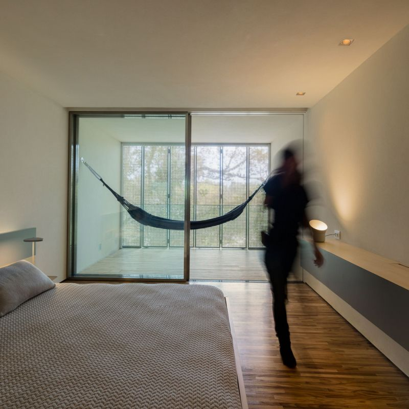 The Jungle House bedroom hammock