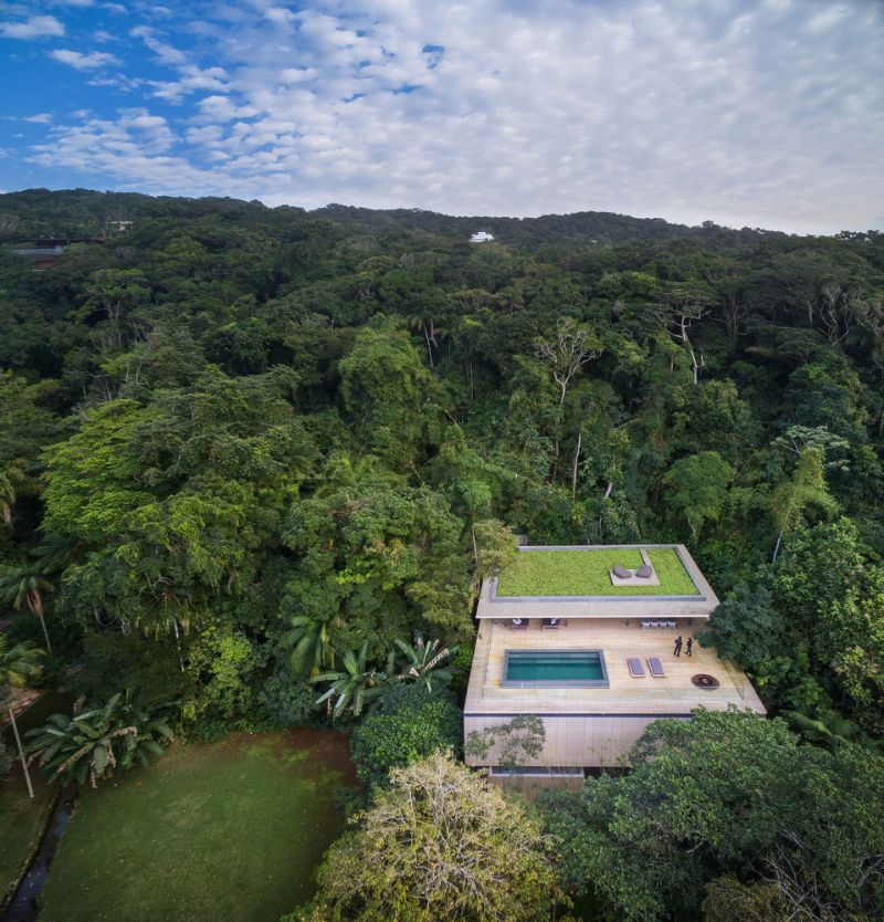 The Jungle House from above