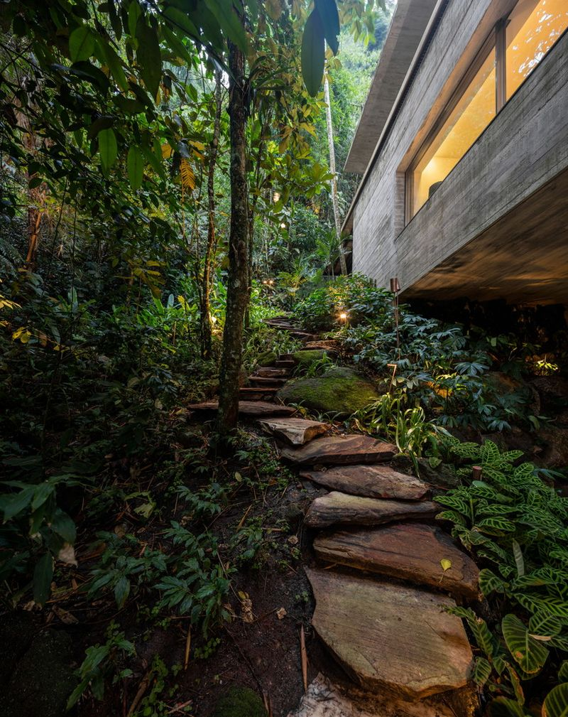 The Jungle House stone walkway