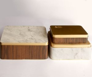 Pretty Upcycled Marble Containers