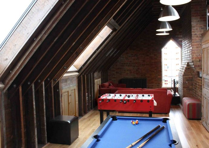 Urban attic playroom